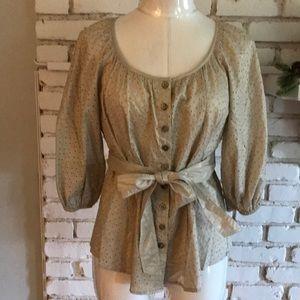 Cynthia Steffe button down tie blouse